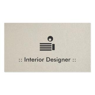 Interior Designer Simple Elegant Professional Business Card