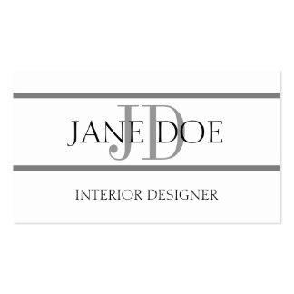 Interior Designer Stripe W/W Business Card