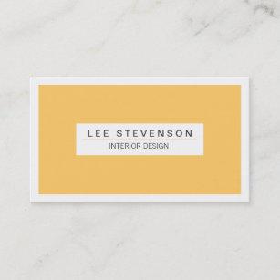 interior designer yellow business card - Interior Design Business Cards