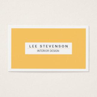 Interior Designer Yellow Business card