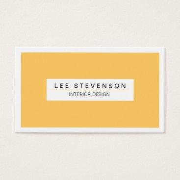 Professional Business Interior Designer Yellow Business card