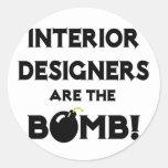 Interior Designers Are The Bomb! Sticker