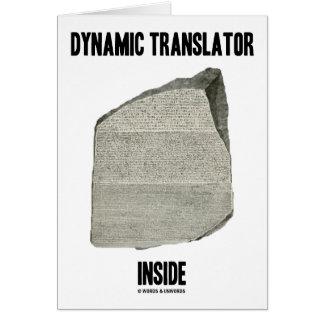 Interior dinámico del traductor (piedra de Rosetta Felicitacion