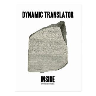 Interior dinámico del traductor (piedra de Rosetta Postales