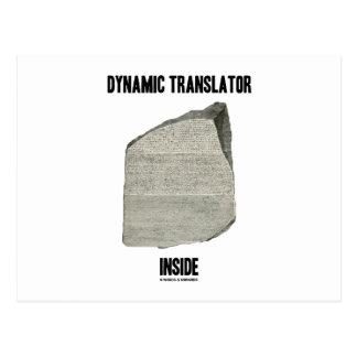 Interior dinámico del traductor (piedra de Rosetta Postal