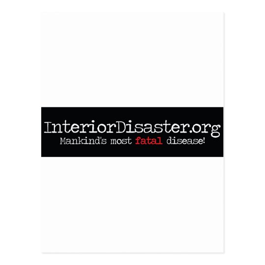 Interior Disaster Products Postcard