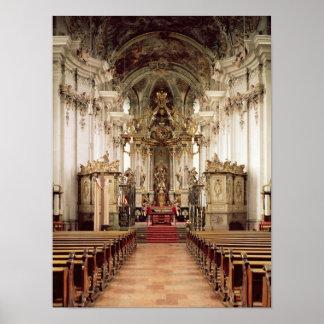 Interior, diseñado por Balthasar Neumann 1734-54 Posters