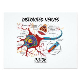 """Interior distraído de los nervios (sinapsis) invitación 4.25"""" x 5.5"""""""
