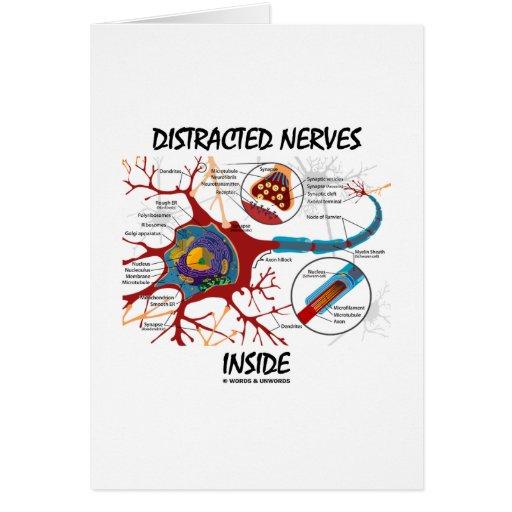 Interior distraído de los nervios (sinapsis) felicitaciones