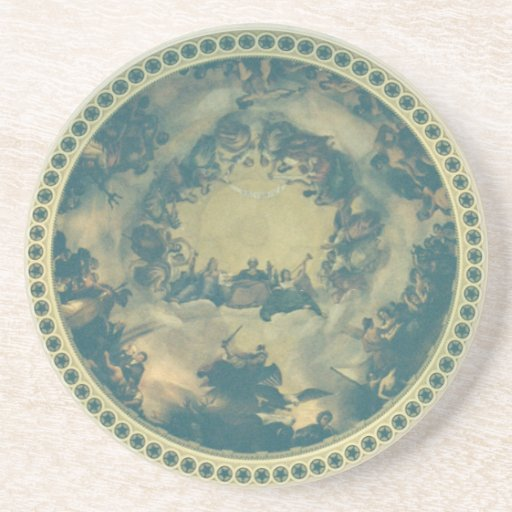Interior Dome of the Capitol Building Drink Coasters