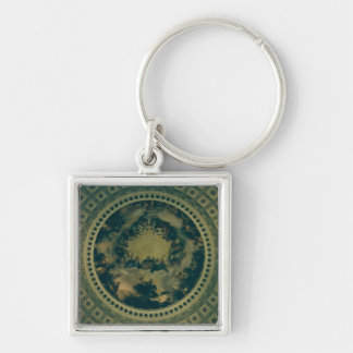 Interior Dome of the Capitol Building Keychain