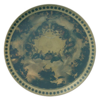 Interior Dome of the Capitol Building Party Plate
