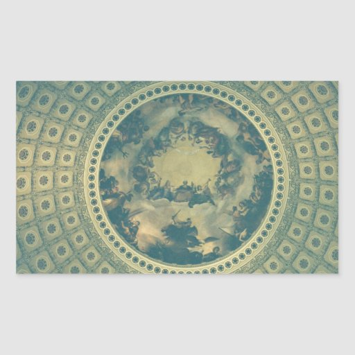 Interior Dome of the Capitol Building Rectangle Stickers