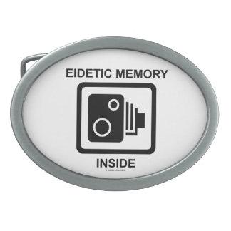 Interior eidético de la memoria (muestra de la cám hebillas de cinturon ovales