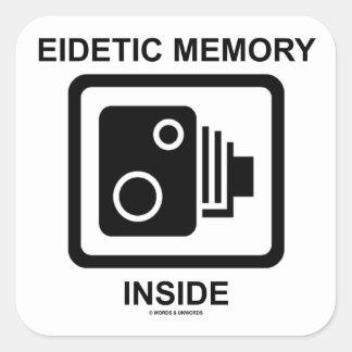 Interior eidético de la memoria muestra de la cám pegatinas cuadradases