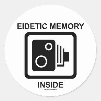 Interior eidético de la memoria muestra de la cám pegatinas redondas