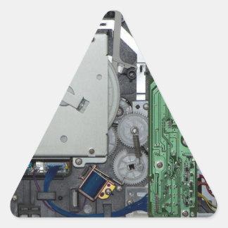 Interior electrónico de una impresora laser pegatina triangular
