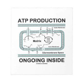 Interior en curso de la producción del ATP Libreta Para Notas