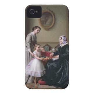 """Interior en """"las castañas"""" Wimbledon, abuela iPhone 4 Case-Mate Cárcasa"""