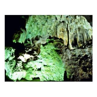 Interior encendido del parque nacional de las cave postal