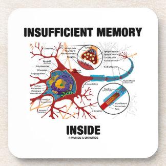 Interior escaso de la memoria (neurona/sinapsis) posavasos de bebidas