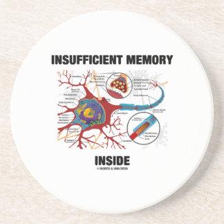 Interior escaso de la memoria (neurona/sinapsis) posavasos manualidades