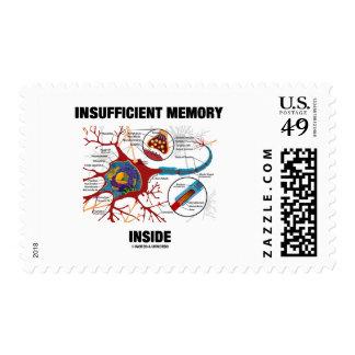 Interior escaso de la memoria (neurona/sinapsis) sello