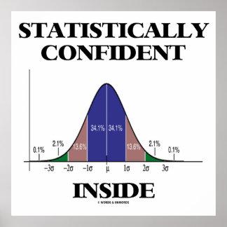 Interior estadístico confiado (humor de la curva d posters