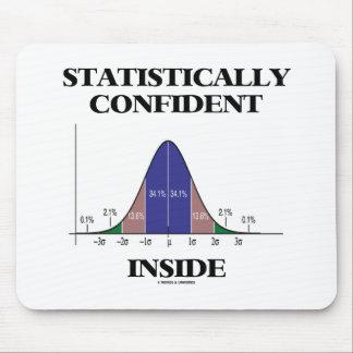 Interior estadístico confiado humor de la curva d tapetes de raton