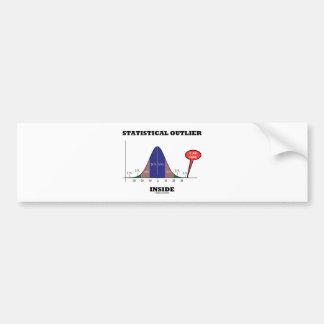 Interior estadístico del afloramiento (humor de la pegatina de parachoque