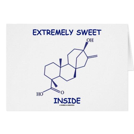 Interior extremadamente dulce (molécula de Steviol Tarjeta De Felicitación