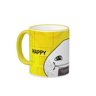 ¡Interior feliz! Taza De Dos Colores