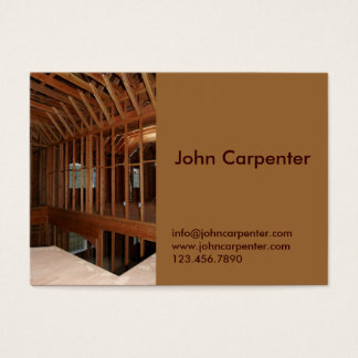 Interior framing of new house business card