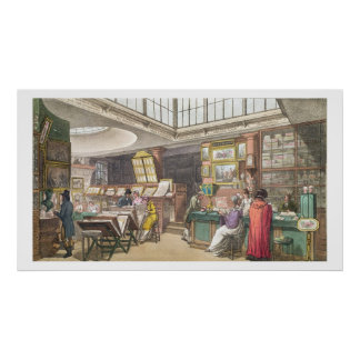 Interior from Ackermann's 'Repository of Arts, Lit Poster