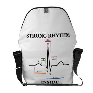 Interior fuerte del ritmo (electrocardiograma de bolsas messenger