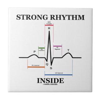 Interior fuerte del ritmo (latido del corazón de E Azulejo