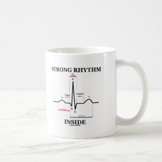 Interior fuerte del ritmo (latido del corazón de E Tazas De Café