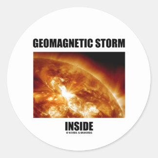 Interior geomagnético de la tormenta (llamaradas