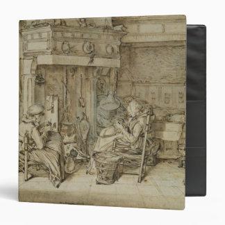 """Interior holandés, 1617 carpeta 1 1/2"""""""