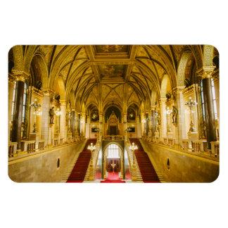 Interior húngaro del parlamento imán flexible