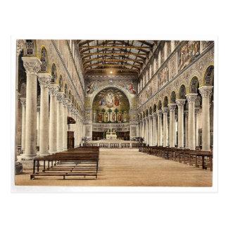 Interior, iglesia de la basílica (es decir basílic tarjetas postales