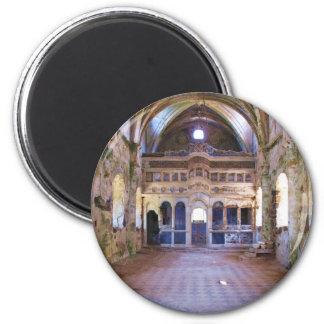 Interior, iglesia, Panayia Pyrgiotissa, Kayakoyu Imán Redondo 5 Cm
