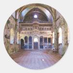 Interior, iglesia, Panayia Pyrgiotissa, Kayakoyu Pegatina Redonda