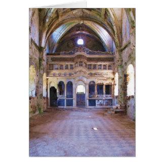 Interior, iglesia, Panayia Pyrgiotissa, Kayakoyu Tarjeta De Felicitación