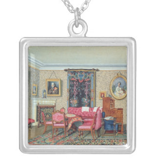 Interior in Pavlino, 1840s Silver Plated Necklace