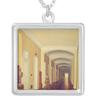 Interior in the Golitsyn Hospital, c.1840 Square Pendant Necklace