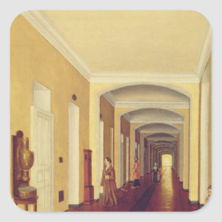 Interior in the Golitsyn Hospital, c.1840 Square Sticker