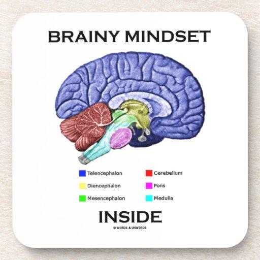 Interior inteligente del modo de pensar (cerebro a posavasos de bebidas
