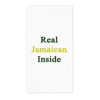 Interior jamaicano real etiqueta de envío