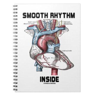 Interior liso del ritmo (corazón anatómico médico) libro de apuntes con espiral
